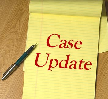 Notepad with case update written on it
