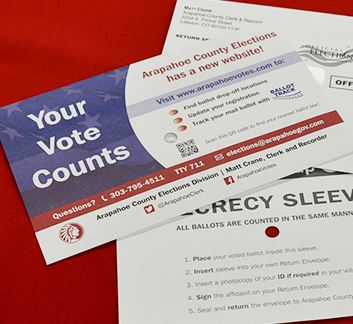 Photo of Ballot Envelopes for Arapahoe County&#39s 2017 Election