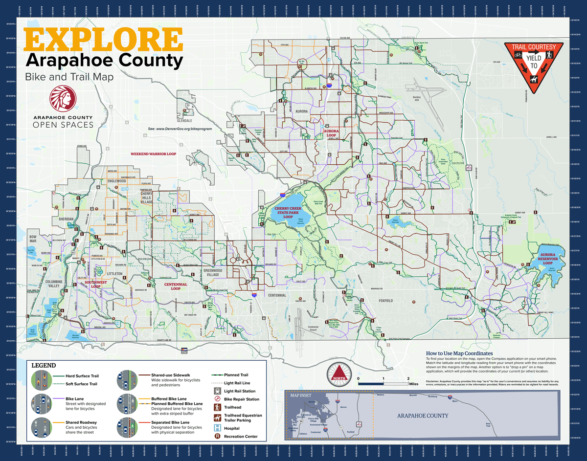 Explore Arapahoe Trails Map_Front