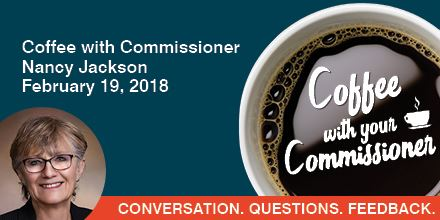 Invitation to Commissioner Jackson's Coffee with Your Commissioner