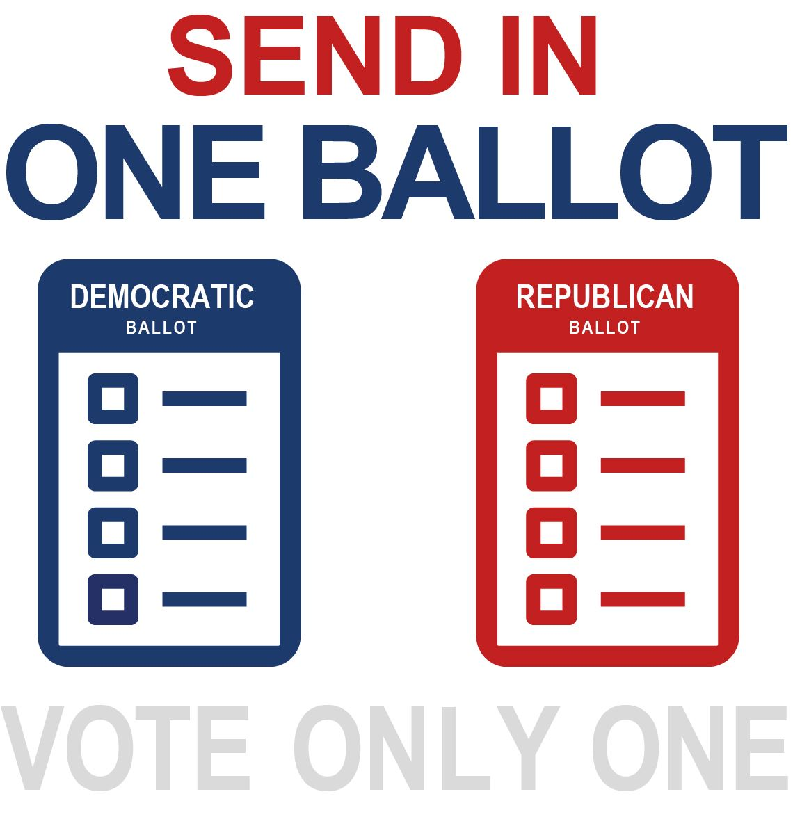 Return One Ballot. Vote Only One.