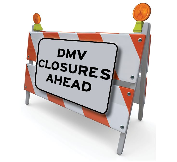DMV Closures Ahead
