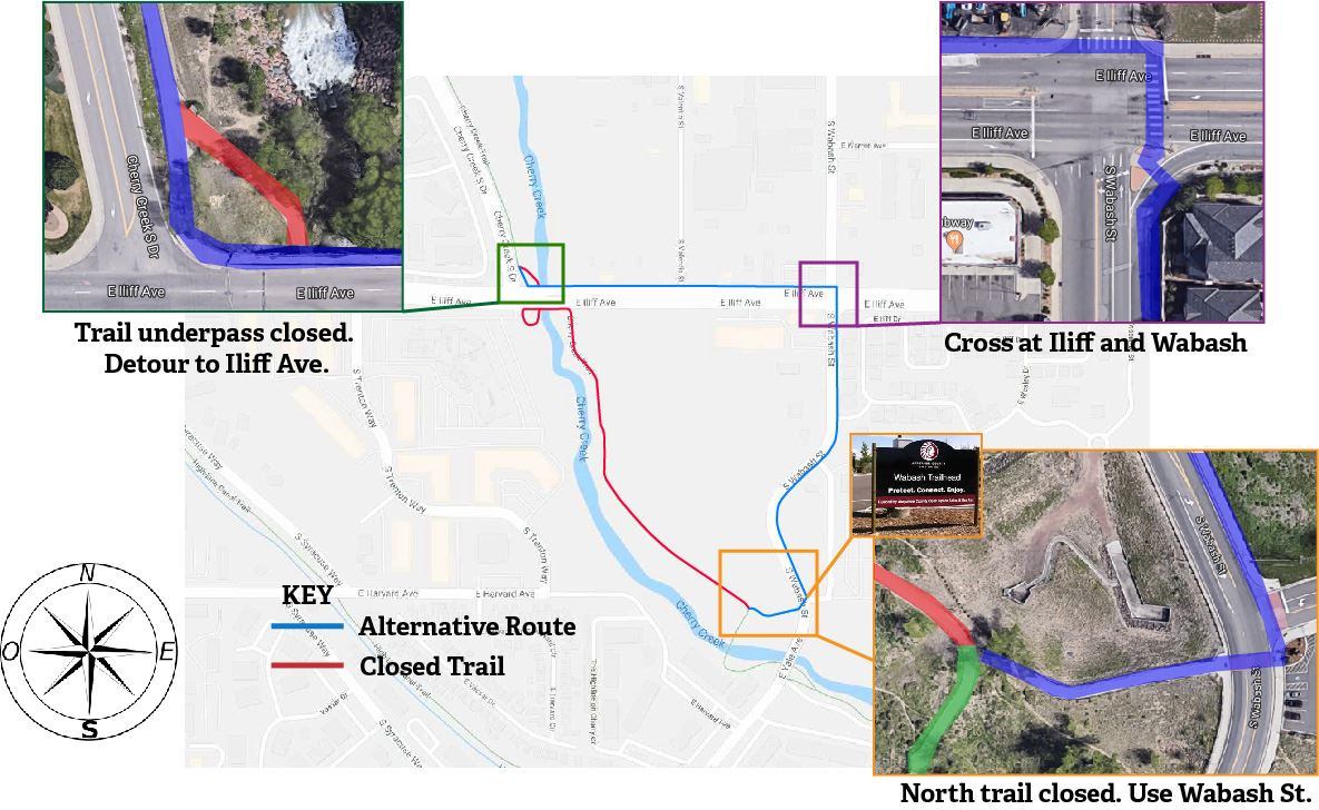 Trail Map Cherry Creek Closure