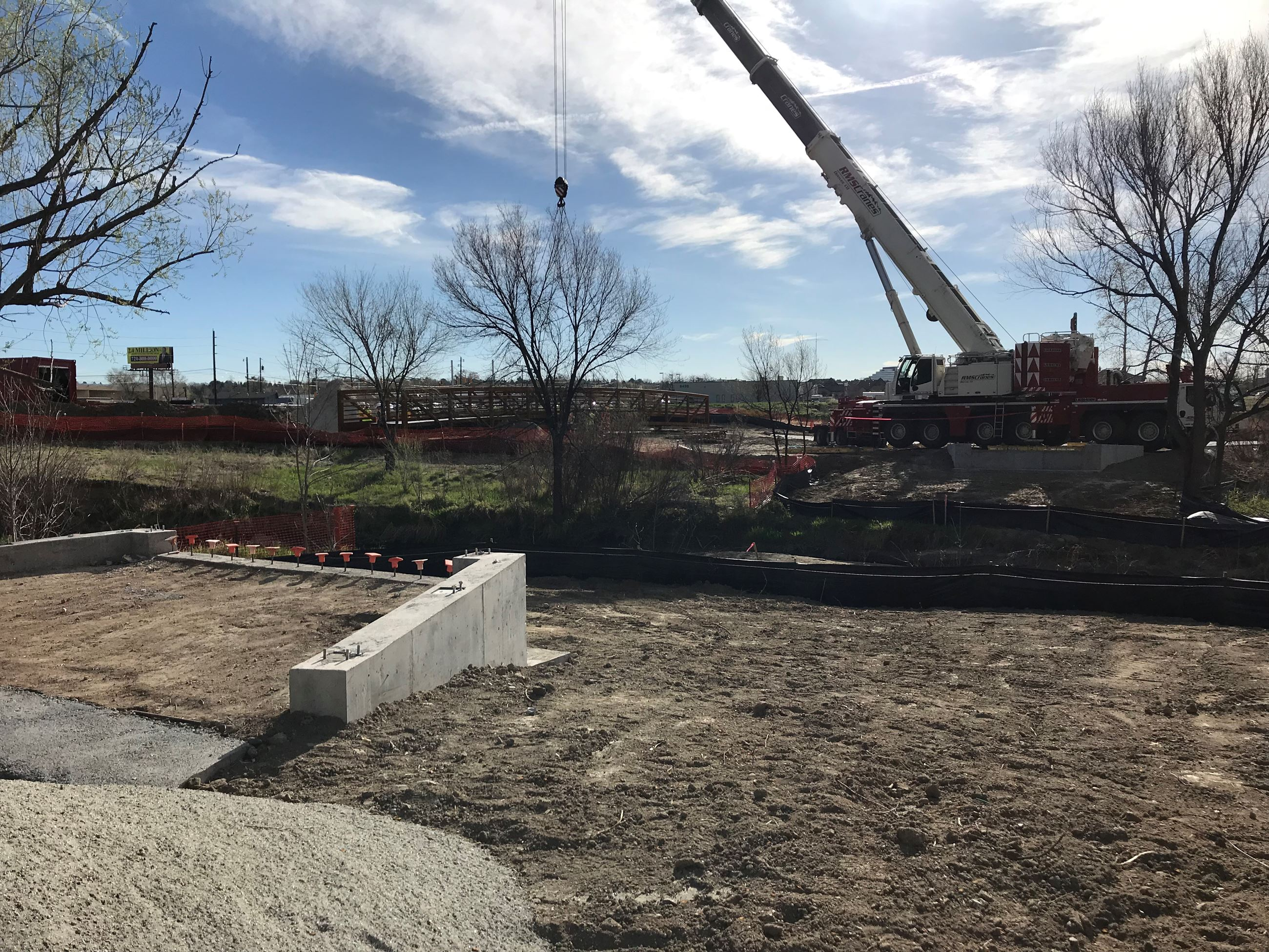 Cherry Creek Trail Bridge Installation