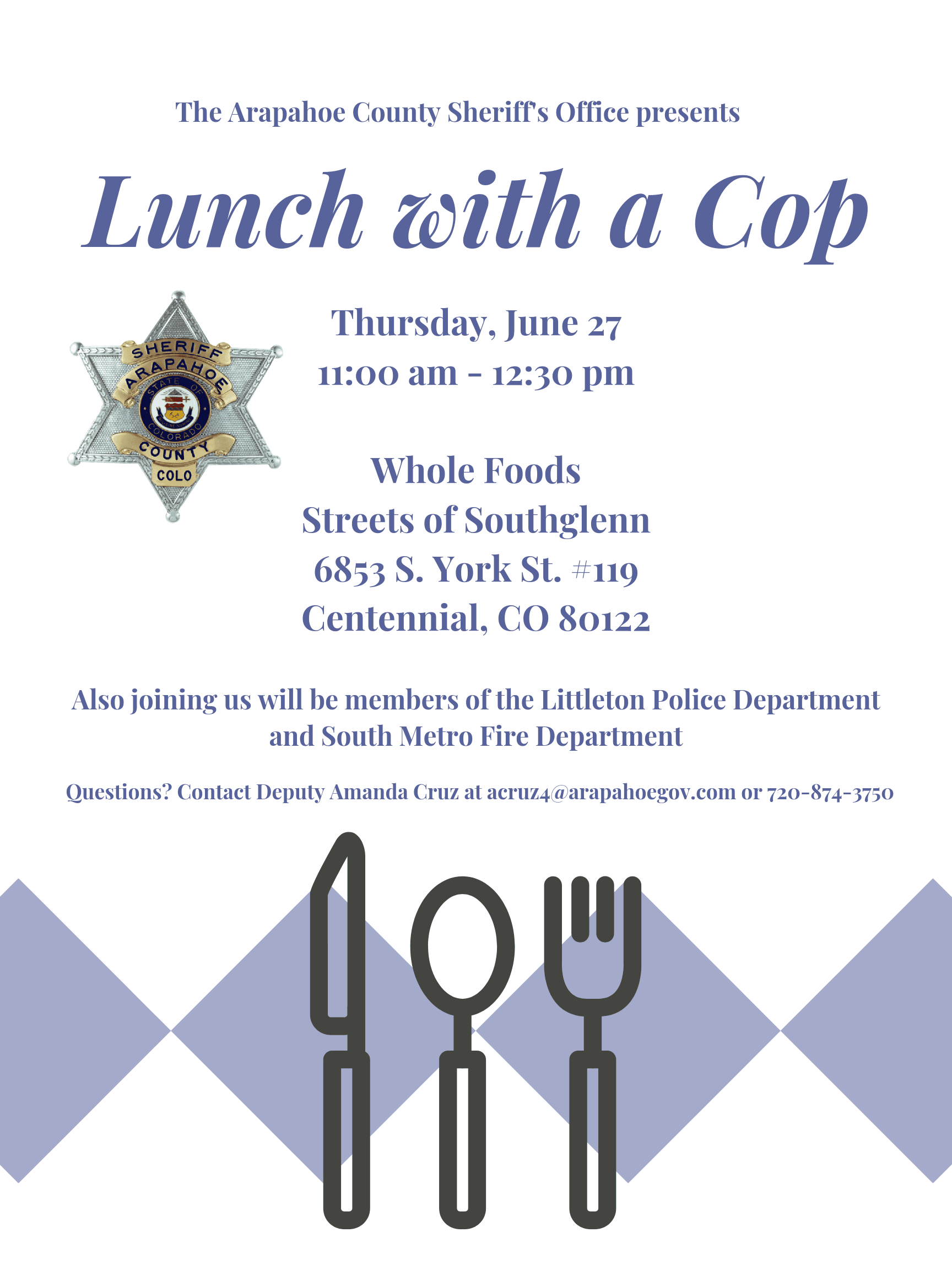 Lunch with a Cop