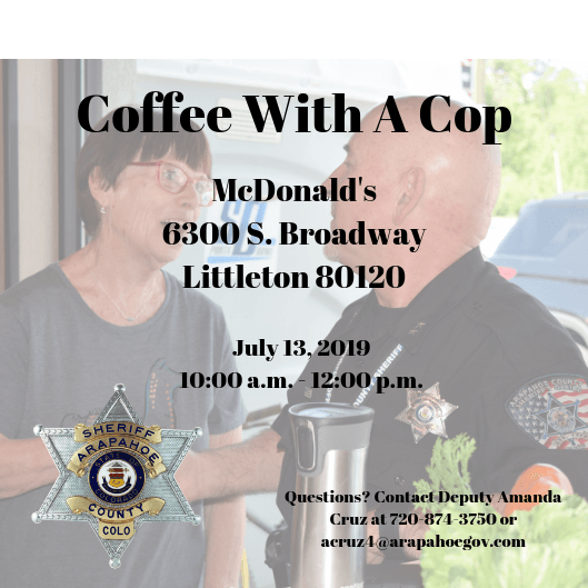Coffee With A Cop 7.13.19