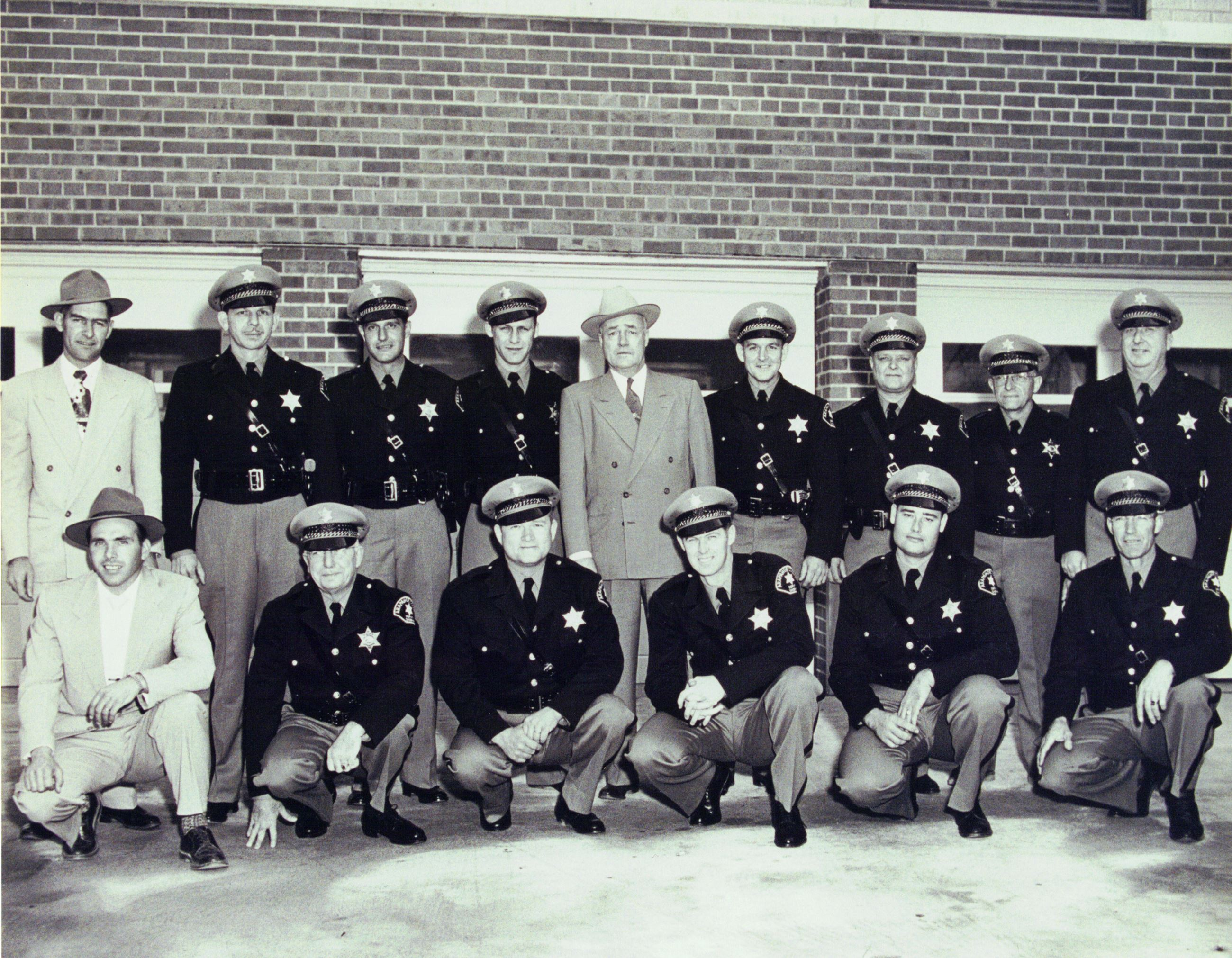Arapahoe Sheriff Chick Foster and deputies c1950s