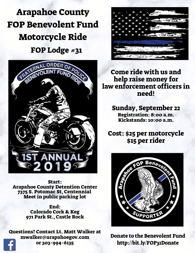 FOP Benevolent Fund Ride