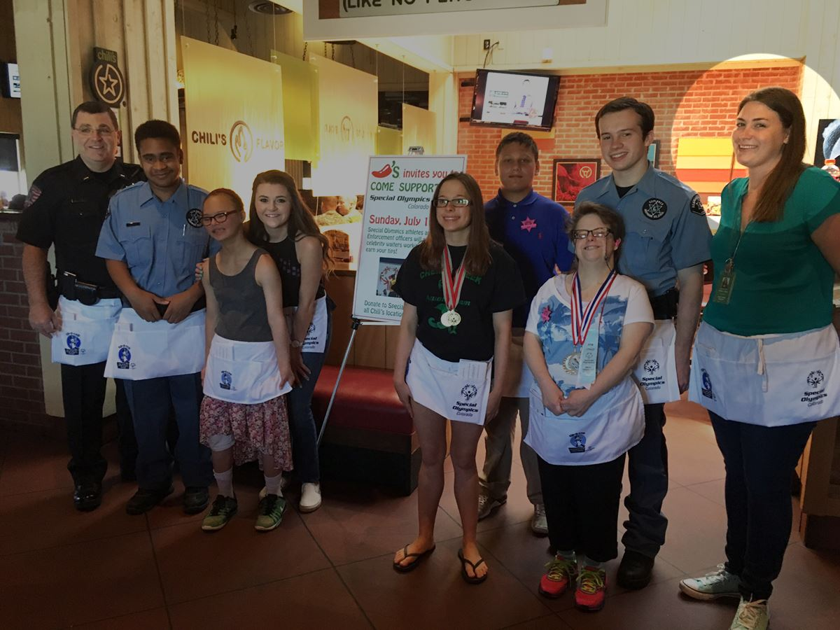 Ashley and Special Olympics Athletes at Chilis