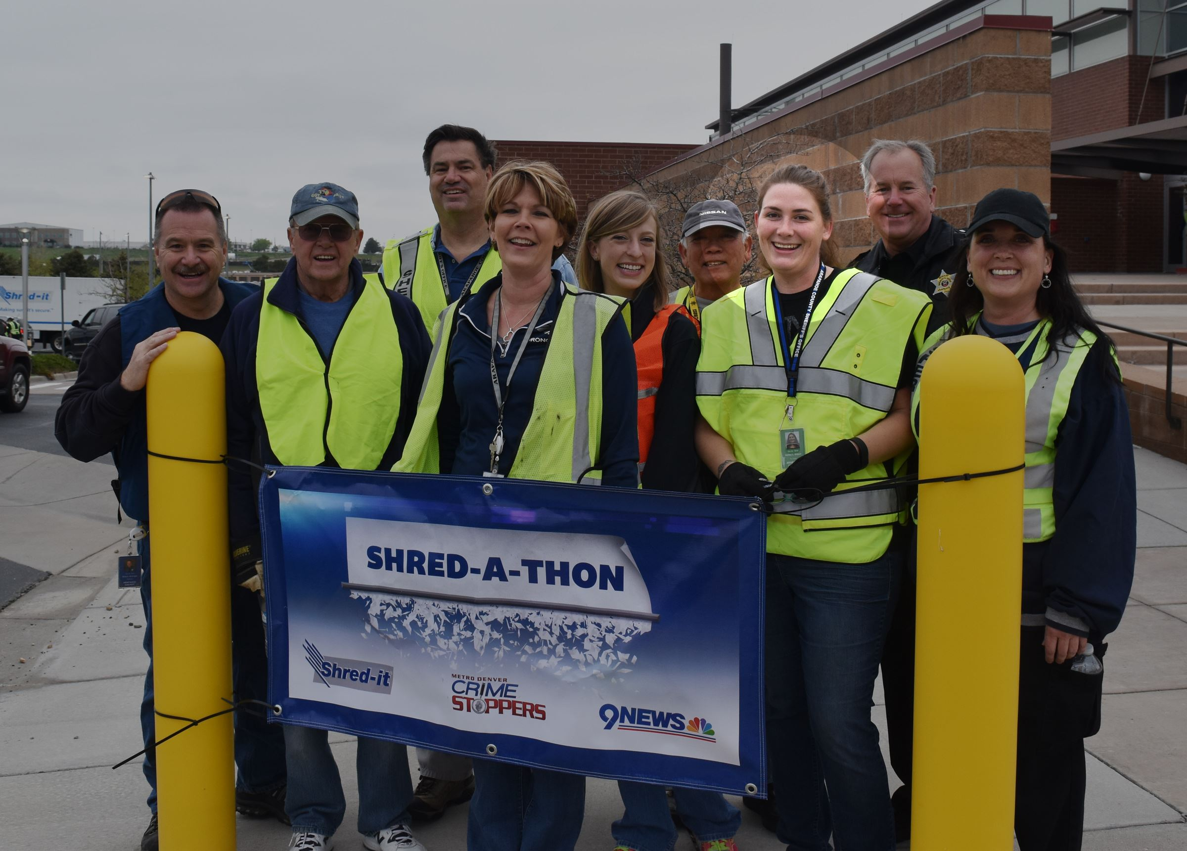Ashley and other staff at the Shred a Thon
