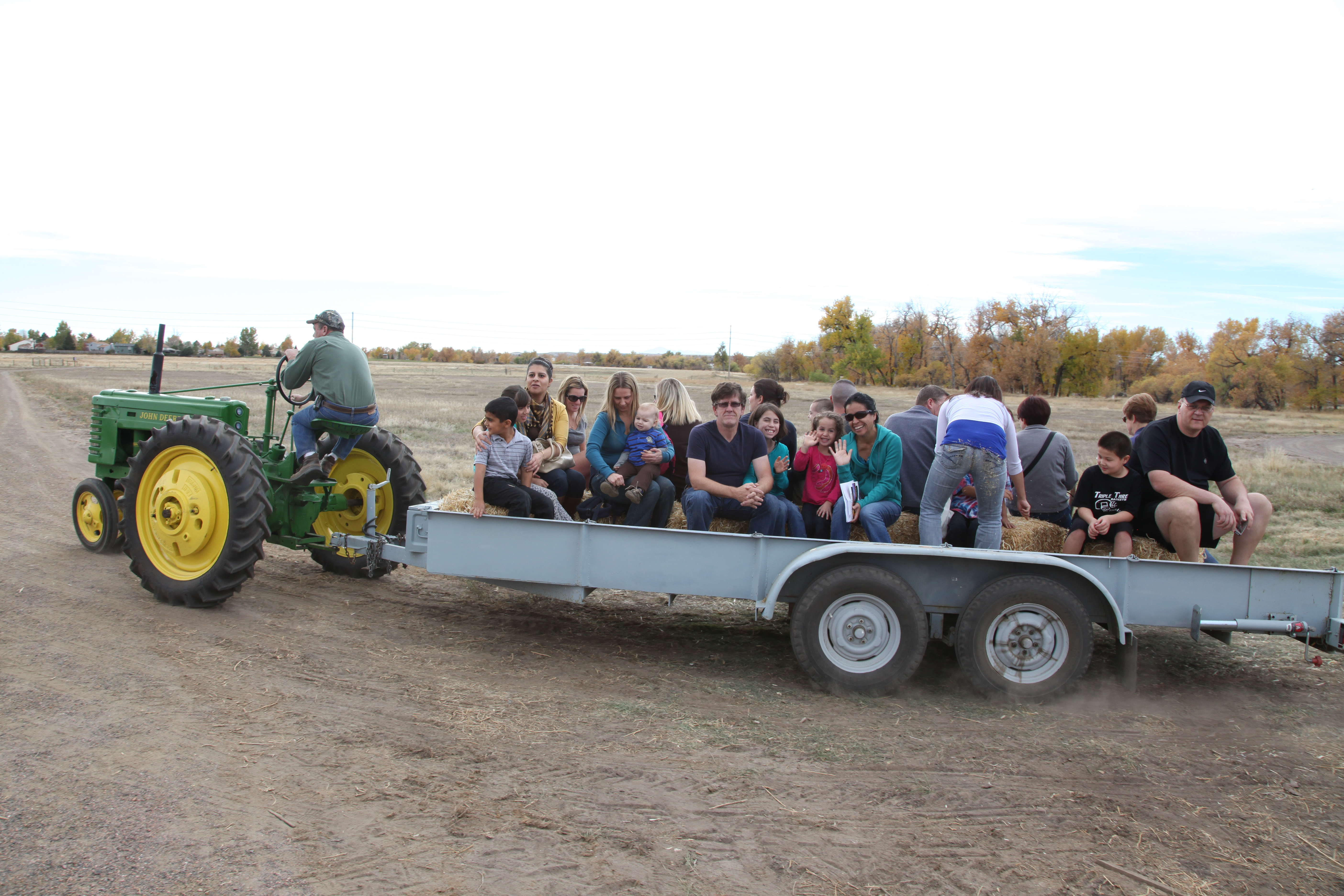 tractor drawn hayride