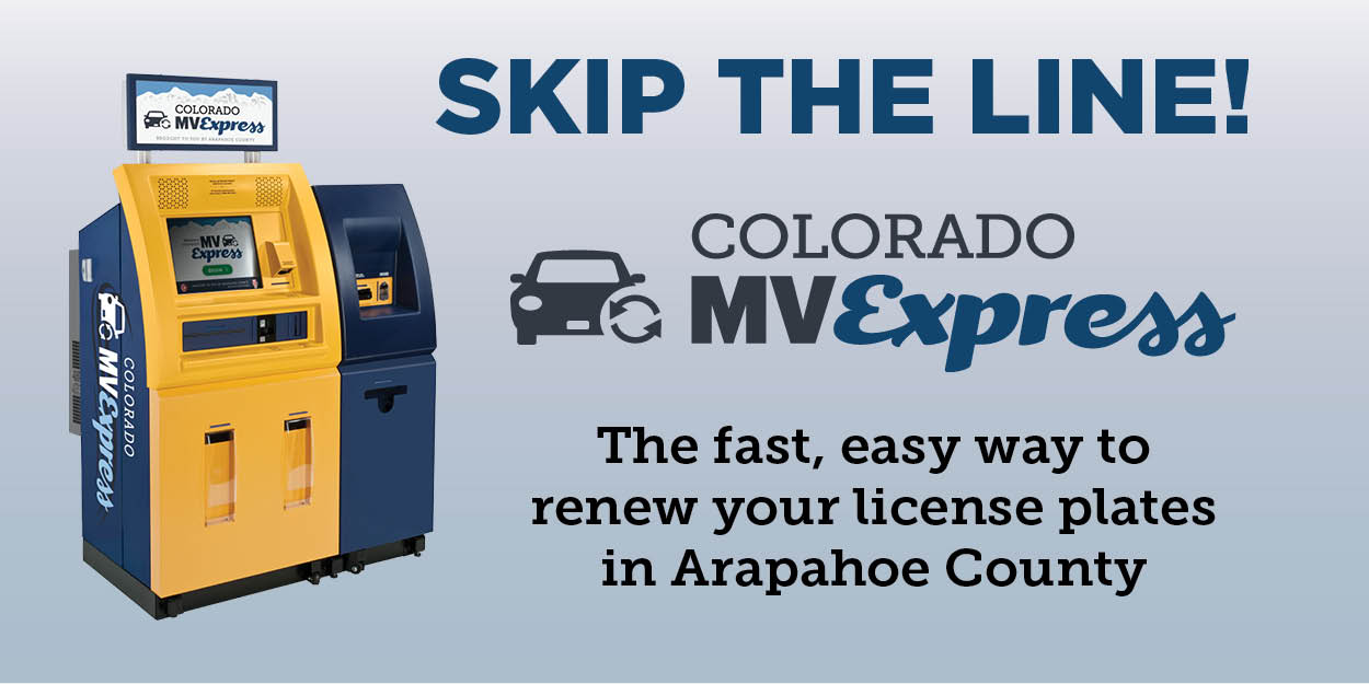Skip the Line! Renew your license plates at a fast, easy kiosk!